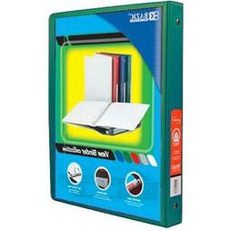 """Bazic 1/2"""" Green 3-Ring View Binder with 2-Pockets"""