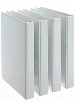 4 Pack 1 Inch 3-Ring White School / Office View-Binders Stor