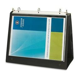 Business Source 1-Inch Presentation Binder - Black