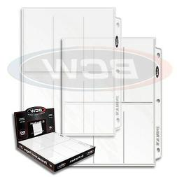 10 sheets 6 pocket BCW Pages 2 1/2 X 5 1/2 Binder Card Ultra