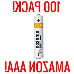 100 AMAZON AAA ALKALINE BATTERIES BASICS 1.5V BULK WHOLESALE