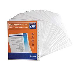 150 sleeves clear plastic sheet page protectors