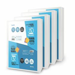 OS Plus 2 Inch, Durable D-Ring View Binder, White, 4 Pack, B