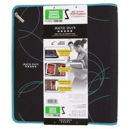 Five Star 2 Inch Zipper Binder, Ring Xpanz, Color Selected F