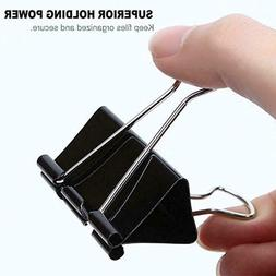 24 Pk Extra Large Binder Clips Big Paper Clamps For Office S