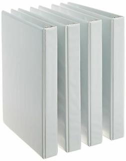 AmazonBasics 3-Ring Binder 1 Inch - 4-Pack  White 1-Inch