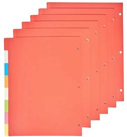 AmazonBasics 3 Ring Binder Dividers with 8 Tabs, Pack of 5 S