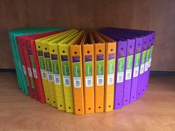 Wexford 3 Ring Binders w/ 2 Pockets, 1Inch Round Ring, Assor