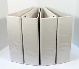 """4-Ring Euro, A4 Size, View Binder, 3"""", D-ring, White, 4-Pack"""