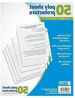 50 Sheet Page Protectors Office Clear Plastic Document Paper