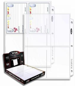 Box of  BCW PRO 4-POCKET PHOTO BINDER PAGES 3.5 x 5.25