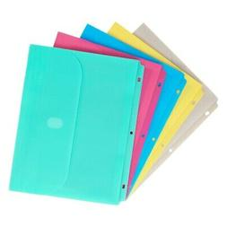 C-Line Super Heavyweight Poly Binder Pocket with Hook & Loop