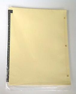 A to Z Index Dividers for 8-1/2 x 11 inch 3-Ring Binder, wit