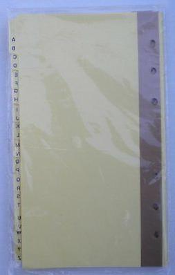 """A-Z Index Dividers for 3-3/4"""" x 6-3/4"""" Mead 6-Ring Binders ,"""