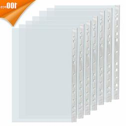 For A4 Paper 100x Sleeves Clear Sheet Page Protector Documen