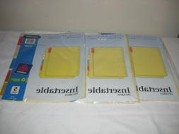 """AVE81000 Insertable Dividers, 3-HP, 5 Tab, 8-1/2""""x11"""", Multi"""