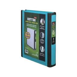 Staples Better Mini 1-Inch D 3-Ring View Binders, Teal