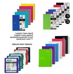Five Star Binders Notebook 1 & 3 Subject Graph College Ruled