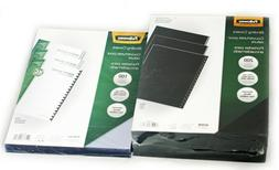 FELLOWES Binding Covers, Clear, Black Linen, Letter Size 8 1