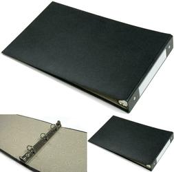 black 3 ring check book binder business