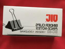 BRAND NEW! Vtg.Officemate OIC99050 Binder Clips:12
