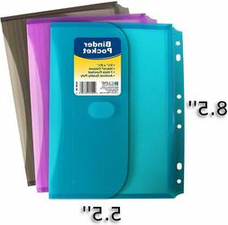 C-Line 08730 Super Heavyweight Poly Mini Size Binder Pocket,