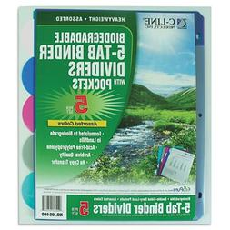 C line biodegradable 5 tab poly, Sold as 1 Package
