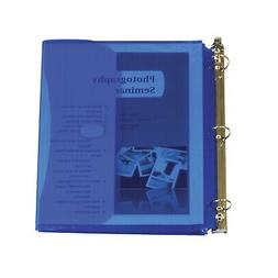 C-Line Side Loading Binder Pocket, 1 Inch, Blue, Pack of 5