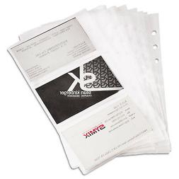 Samsill Classic Junior Size Business Card Pages
