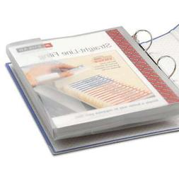 Clear Poly 3-Ring Envelopes with Hook and Loop Closure, 1-1/