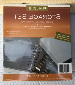 DAY TIMER STORAGE SET Lot 2 Binders Slipcases Fits 3 and 7 R