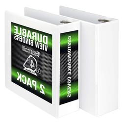 Samsill Durable 3 Ring View Binders, 4 Inch Locking D-Ring -