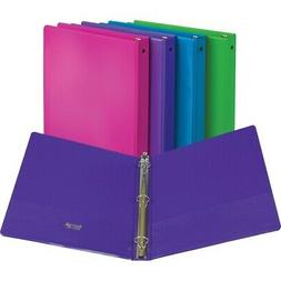 "Samsill Economy 2-Pocket Round Ring View Binders - 1"" Binder"