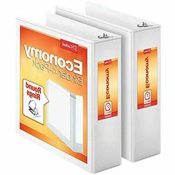 """Cardinal Economy 3-Ring Binders, 3"""", Round Rings, Pack of 2"""