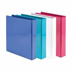 Samsill Economy 3 Ring View Binders, 1.5 Inch Round Ring, Cu