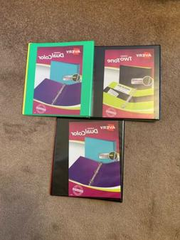Avery Heavy Duty 1 Inch Dual Color Binders Set Of 3