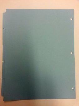 Kleer-Fax Blue colored 5 subject pain tab index divider 11 x