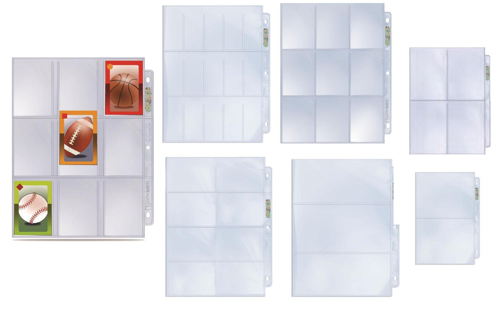 10 pocket album pages fits 3 ring