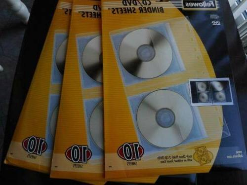 3 10 pack cd dvd protector sheets