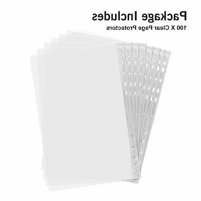 For Paper Sleeves Protector Office Binder