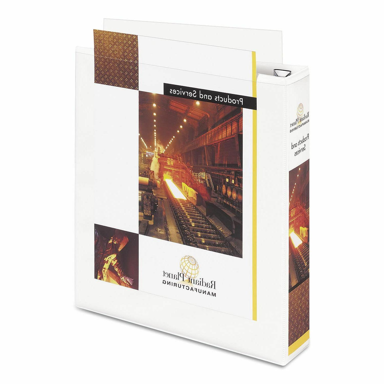 """Avery Nonstick Reference Binder, White,1.5"""" 2"""
