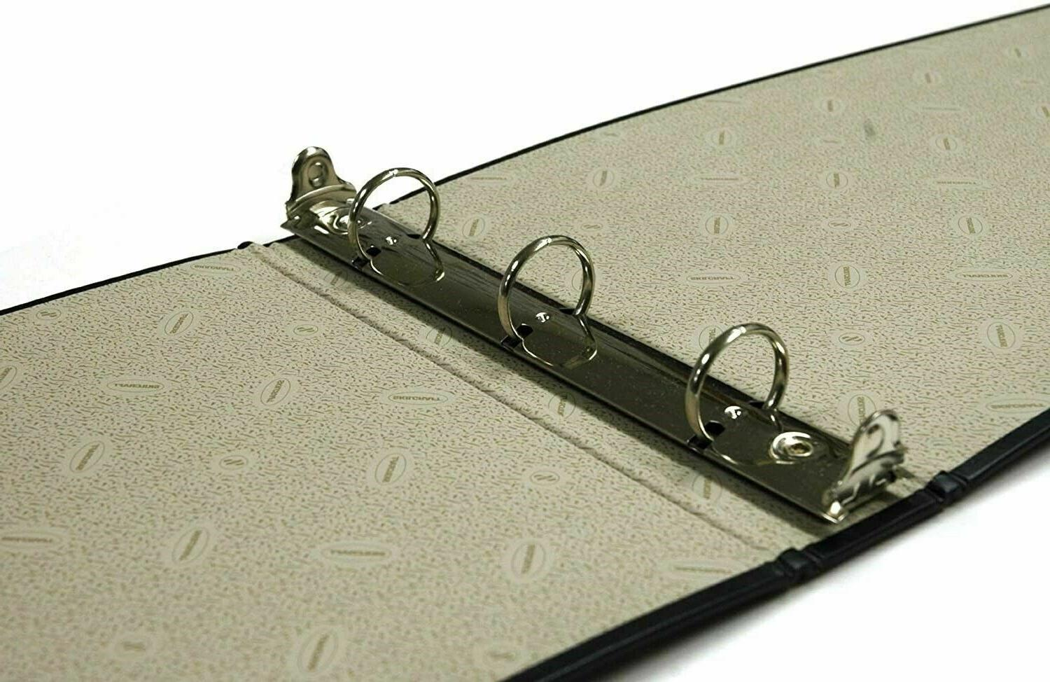 Black 3-Ring Check Book Binder For Paper