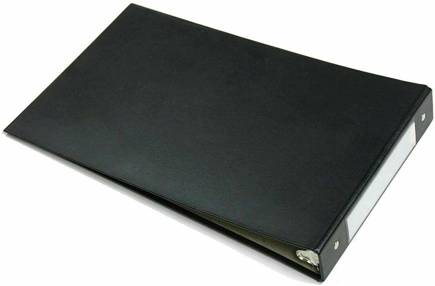 Black 3-Ring Book Binder Business Checkbook For x Paper