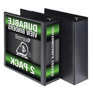 durable 3 ring view binders 4 inch