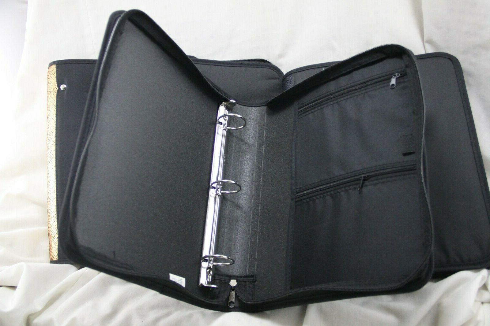 """Lot of Four Mead Zipper Binders with 1-1/2"""" R1"""