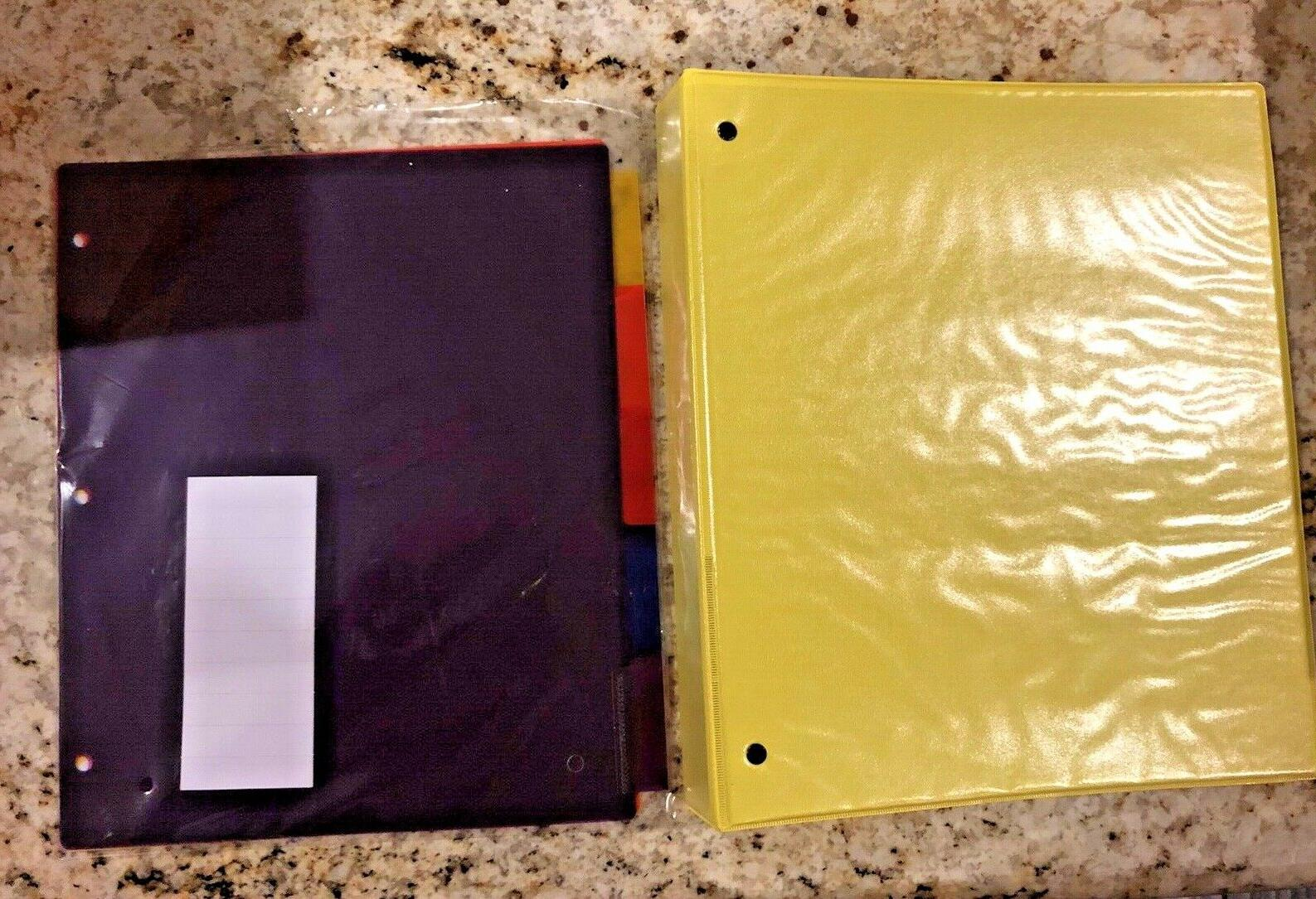 Pen+Gear 1 Inch Yellow Binder and 5 Dividers binders and 6