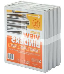 "Member's Mark 1/2"" Round-Ring View Binder, White 8 pk - Just"