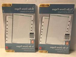 NEW 2 Day Timer TO BE DONE PAGES refill pads size 4 fits 3-