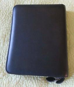 """New DAY TIMER Black Leather Zip 8.5""""x10.5"""" Business Planner"""