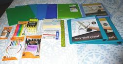 NEW Lot School Office Supplies-Pens Highlighters Binders Poc